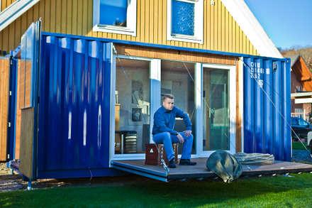 POCKETCONTAINER - Das Mikrohaus: minimalistische Häuser von Stefan Brandt - solare Luftheizsysteme und Warmuftkollektoren