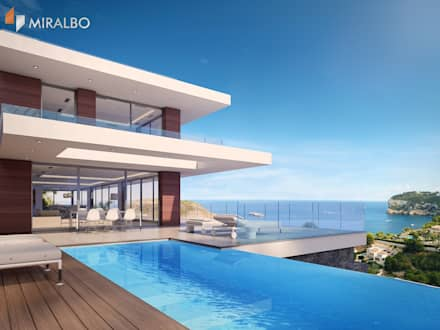 Villa Poseidon: modern Pool by Miralbo Excellence