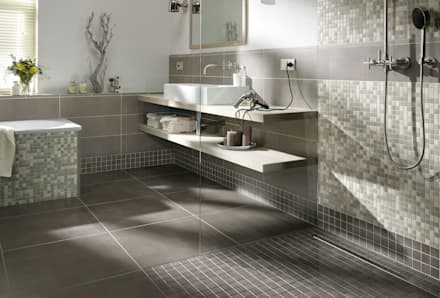 Anti Slip Mosaic Tiles: modern Bathroom by The Mosaic Company