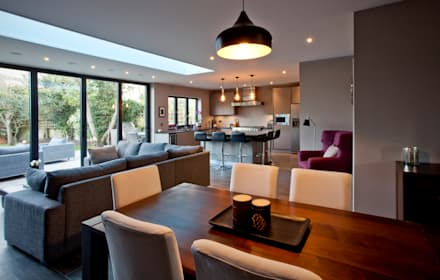Teddington Kitchen Extension: modern Dining room by A1 Lofts and Extensions