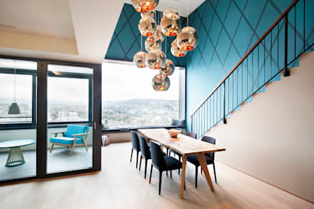 Penthouse, Zurich: modern Dining room by Dyer-Smith Frey