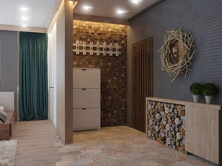 современное шале в однокомнатной квартире: Коридор и прихожая в . Автор – Девятайкина Софья ( АРТ-мастерская 'Stylishdesign')