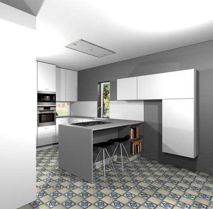 Projecto cozinha GDM: Cozinhas modernas por 3dogma mobiliário de cozinha
