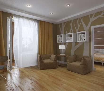 Дизайн загородного дома в п. Приветинское: Медиа комнаты в . Автор – Design interior OLGA MUDRYAKOVA