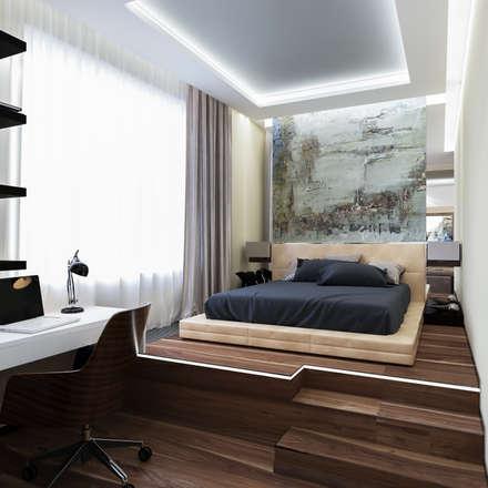 дизайн интерьера спальни: Спальни в . Автор – INTERIERIUM