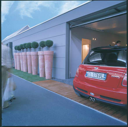 Garage rimessa in stile moderno idee homify for 2 idee di progettazione di garage per auto