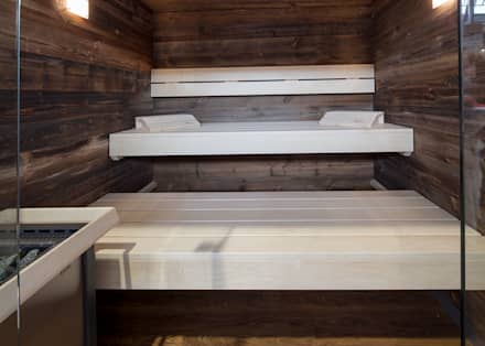 Kontrastreiche Sauna: skandinavisches Spa von corso sauna manufaktur gmbh
