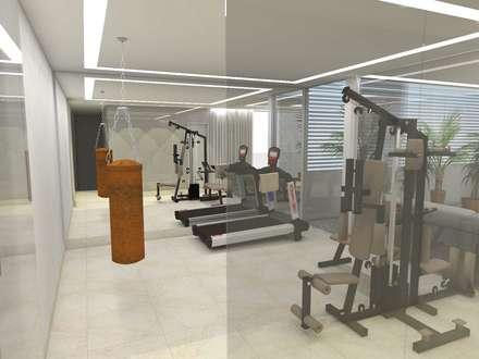 modern Gym by Arquitetura do Brasil