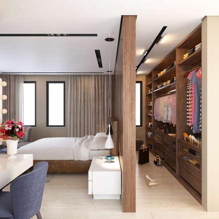 fatihbeserek – İç mekan tasarım ve Görselleştirme: modern tarz Yatak Odası