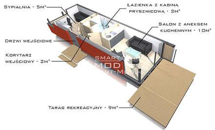 Apartament 25: styl nowoczesne, w kategorii Domy zaprojektowany przez Smart Mod