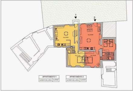Progetto di restauro e risanamento conservativo di Villa: Case in stile in stile Rustico di Architetto Serena Lugaresi