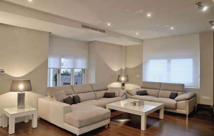 vivienda particular salones de estilo moderno de senza espacios