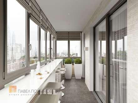 Квартира в современном стиле, 153 кв.м.: Tерраса в . Автор – Студия Павла Полынова