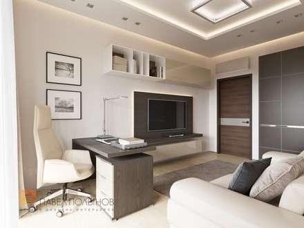 Квартира в современном стиле, 153 кв.м.: Рабочие кабинеты в . Автор – Студия Павла Полынова