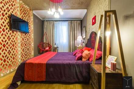 Спальня со львом.Проект для TV ПРО декор на ТНТ: Спальни в . Автор – Yucubedesign