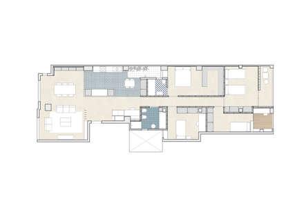REFORMA DE VIVIENDA EN CALLE BURRIANA (VALENCIA): Paredes de estilo  de DonateCaballero Arquitectos