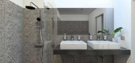 Remodelação Calçada do Combro: Casas de banho modernas por Arqui3 Arquitectos Associados