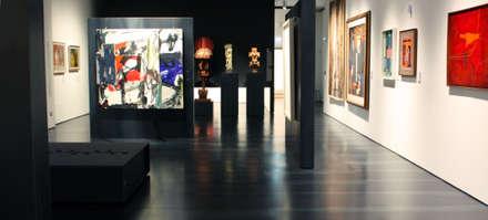 L' acciaio Calamina riveste il museo: Musei in stile  di Planium