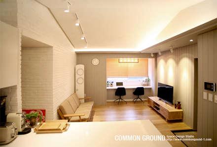 방배동 빌라 리모델링 15PY (신혼집 인테리어): 커먼그라운드의  침실