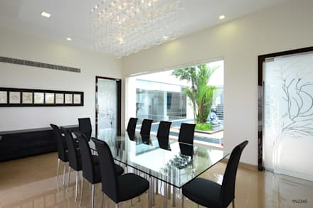 Residential Bungalow: modern Dining room by NA ARCHITECTS