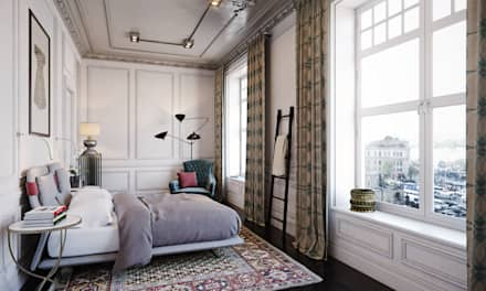 Квартира в Стамбуле: Спальни в . Автор – MARION STUDIO