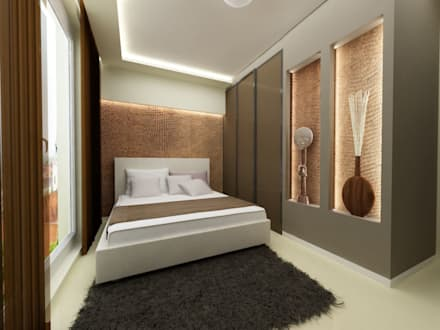 Phòng ngủ by ZAWICKA-ID Projektowanie wnętrz