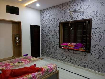 Bedroom Wall concept: modern Bathroom by Krishna Equytech