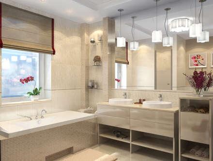 3D визуализация: Ванные комнаты в . Автор – Designer Olga Aysina