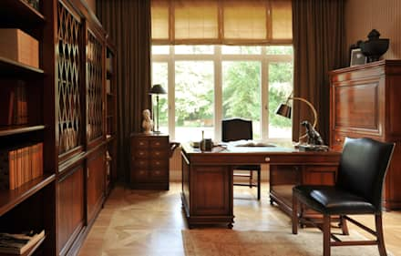 House in Darmstadt: Bureau de style de style Classique par Petr Kozeykin Designs LLC, 'PS Pierreswatch'