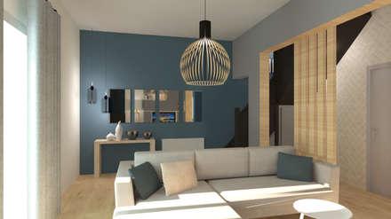 Un pied à terre definitif: Salon de style de style Scandinave par COLOMBE MARCIANO