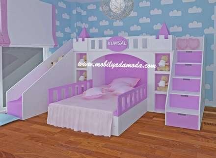 MOBİLYADA MODA  – Kumsal'ın Odası/Hatay/Şatolu Kaydıraklı Oda: modern tarz Çocuk Odası