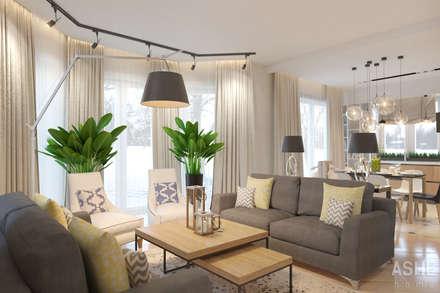 Гостиная: Гостиная в . Автор – Студия авторского дизайна ASHE Home