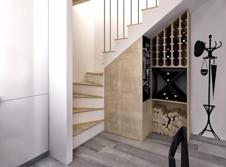 rustic Wine cellar by redesign lab