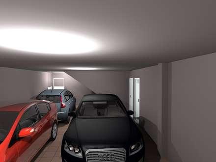 Vivienda Unifamiliar en Los Navalucillos (Toledo): Garajes de estilo clásico de CARLOS MORENO ARQUITECTURA Y URBANISMO SLP