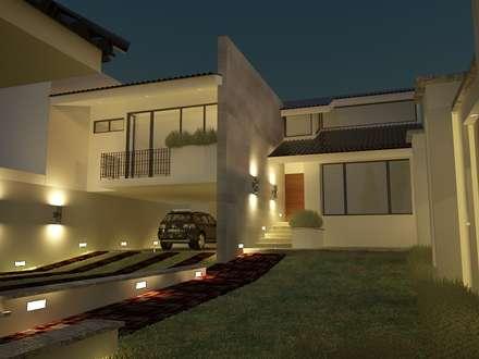 Residencia Cervantes: Garajes de estilo moderno por AQ3 Arquitectos