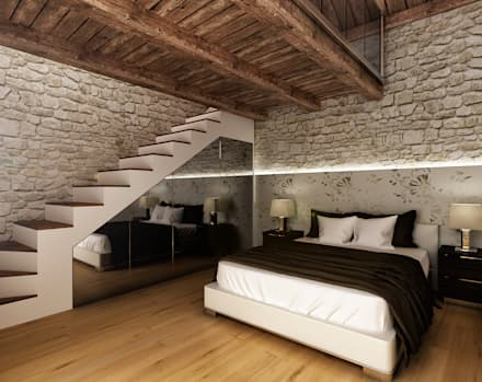 rustic Bedroom by redesign lab