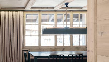 GSTAAD, SWITZERLAND: industrial Dining room by Ardesia Design