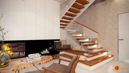 WHITE TREE living room: Гостиная в . Автор – Art-i-Chok