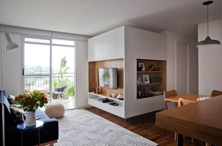 Sala: Salas de jantar escandinavas por INÁ Arquitetura