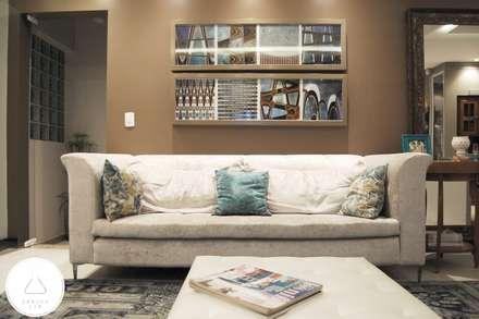 Estar Gourmet: Salas de estar modernas por EDW Design de Interiores | LightDesign