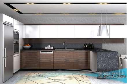 blt tasarım (engin bulut design) – 3d görsel hazırlama: klasik tarz tarz Mutfak