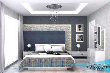 blt tasarım (engin bulut design) – 3d görsel hazırlama: modern tarz Yatak Odası