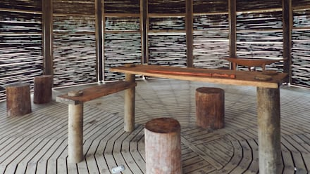 Kipará Té Etnoaldea Turística Embera / Juan Pablo Dorado + Oficina Suramericana de Arquitectura: Cocinas de estilo tropical por Oficina Suramericana De Arquitectura