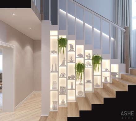 Pasillos y hall de entrada de estilo  por Студия авторского дизайна ASHE Home