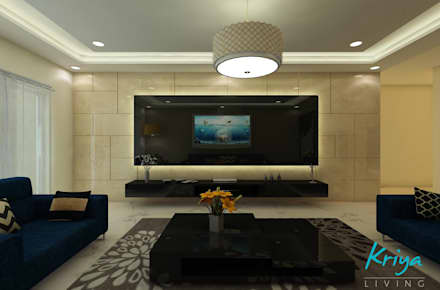 modern living room by homify - House Interiors India