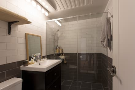 Baños de estilo moderno por 매트그라퍼스