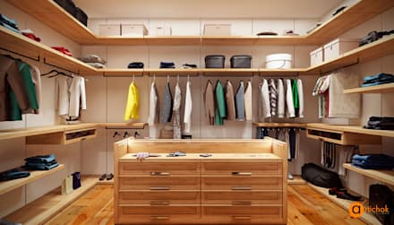 scandinavian Dressing room by Art-i-Chok
