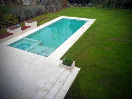 MACERI HOUSE: Piletas de estilo moderno por Carbone Fernandez Arquitectos