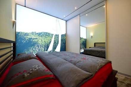 Exklusive und innovative Loft-Wohnung: industriale Schlafzimmer von raum in form