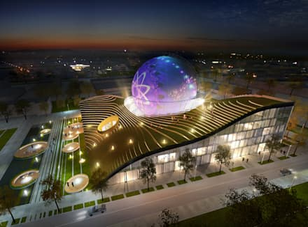 """Учебно-исследовательский центр HHN """"Газгольдер"""": Выставочные центры в . Автор – db-arch studio"""